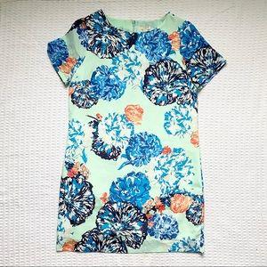 J. Crew factory mint floral shift size 8